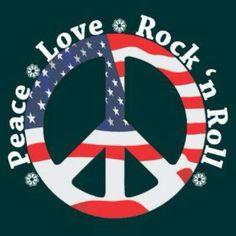 Peace Love & Rock 'n Roll Hippie Peace, Happy Hippie, Hippie Life, Peace Love Happiness, Peace And Love, Peace Sign Art, Peace Signs, 70s Rock And Roll, Peace Fingers