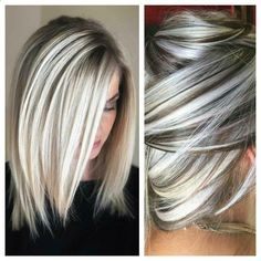 I love this hair color! That& how I want my hair dyed . Short hair gray n blond - I love this hair color! That& how I want my hair dyed Short hair gray n blond - Hair Lights, Low Light Hair Color, High And Low Lights, Blonde With Low Lights, Henna Hair Color, Hair Colors, Types Of Hair Color, Types Of Nails, Grey Wig