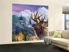 8x8 $211 Big Buck Pro Open Season Cabinet Art Wall Mural – Large by John Youssi at AllPosters.com