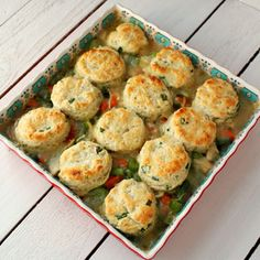 Chicken Pot Pie with Pepper Chive Biscuits Recipe Main Dishes with all ...