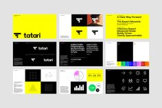 Tatari needed a brand that could scale and grow with the company, We helped create the future of TV advertising, today. Brand Guidelines Design, Brand Identity Design, Branding Design, Logo Design, Brochure Design, Web Design, Graphic Design Tools, Website Design Layout, Design Posters