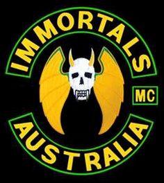 Immortals MC - Respect Biker Clubs, Motorcycle Clubs, Bike Gang, Hells Angels, Biker Patches, Nose Art, World Of Color, Art Club, Colours