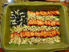 Flag Salad with Red Strawberries and Blue Cheese