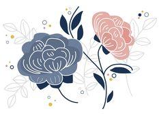 piwonie, peonia, illustration, ilustracja, mioduszewska ilustracje, kwiaty, flowers