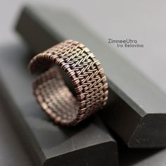 Купить Кольцо мужское :: медь - коричневый, медь, медный цвет, медное кольцо
