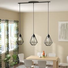 Taplin Kitchen Island Geometric Pendant - All For Decoration Kitchen Island Lighting, Island Kitchen, Kitchen Lamps, Kitchen Fixtures, Kitchen Cabinetry, Bedroom Lighting, Hallway Lighting, Bedroom Ceiling, Strip Lighting