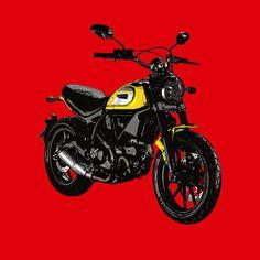 Ducati Scrambler  Si te gustan mis trabajos, Sígueme. If you like my artworks, Follow me.  #ducati #scrambler #ducatiscrambler #ducatista #moto #motocycle #motorcycle #motocicleta #alvarodintenmoto #instamoto #dibujo #diseño #draw #drawing #design #red #ducatiespana