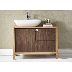 Retro flair meets contemporary inspiration with the Vinnova Monza Vanity. This wonderfully classic yet intriguing piece features push-to-open drawer and door functionality, basin-style sink, and dual-toned wood grains.