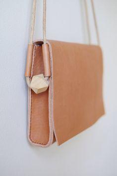 Borsa a tracolla di loop borsa a tracolla in pelle di smallqueue
