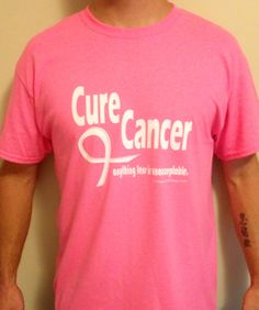 Cure Cancer men's Tshirt from fillyourlifeup.com