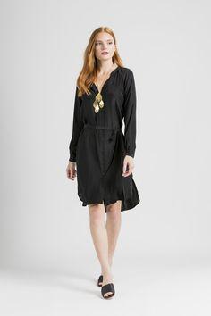 Sofia Shirtdress / Black