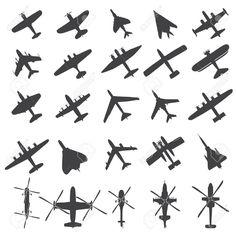아이콘 비행기를 설정 로열티 무료 사진, 그림, 이미지 그리고 스톡포토그래피. Image 17187287.