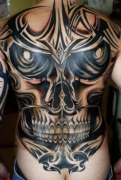 Tribal tattoos are probably the result of a much sought after tattoo designs when it comes to tattoos for men. Tribal tattoos are similar in. Tribal Tattoo Designs, Tribal Back Tattoos, Cool Back Tattoos, Back Tattoos For Guys, Skull Tattoo Design, Tattoo Designs And Meanings, Best Tattoo Designs, Tattoos For Women, Awesome Tattoos