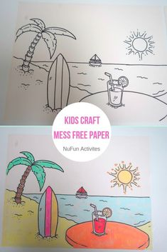 Mess free paper for any kids crafts! Join us here in having a fun summer. It will work with ALL mess free markers.