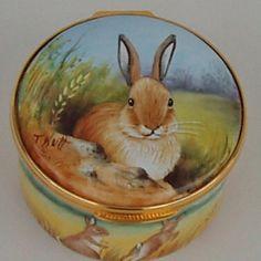 Limoges - Painted Rabbit Box
