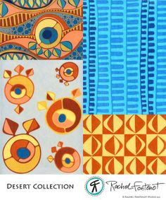 """Rachel Fontenot's """"Desert"""" collection from The Sellable Sketch. http://rachelfontenot.wordpress.com/ http://www.pinterest.com/lunebleuestudio/"""