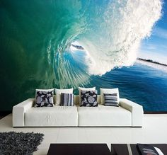 Wall MURAL The Perfect Wave Wall Paper by FromEUwithLove on Etsy - http://centophobe.com/wall-mural-the-perfect-wave-wall-paper-by-fromeuwithlove-on-etsy/ -