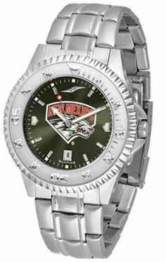 New Mexico Lobos Men's Stainless Steel Dress Watch by SunTime. $86.95. Officially Licensed New Mexico Lobos Men's Stainless Steel Dress Watch. Links Make Watch Adjustable. Men. AnoChrome Dial Enhances Team Logo And Overall Look. Stainless Steel. New Mexico Lobos men's stainless steel watch. College dress watch with rotating bezel color-coordinated to compliment your favorite team logo. The Competitor Steel utilizes an attractive and secure stainless steel band. Perfect for an...