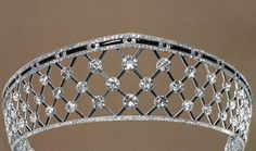 A Chaumet diamond and onyx lattice kokoshnic style tiara.