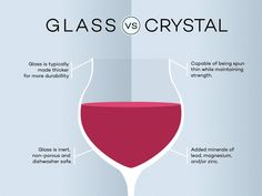 Find out the real differences between glass and crystal wine glasses along with a few important details about choosing the best glassware for your needs.