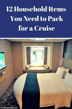 12 Household Items You Need to Pack for a Cruise. #Cruise #CruiseTips #CruisePacking