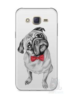 Capa Capinha Samsung J7 Cachorro Pug Estiloso #2 - SmartCases - Acessórios para celulares e tablets :)