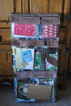 A Fantastic Way to Organize Your Gift Bags & Wrapping Paper | Smart~Happy~Organized