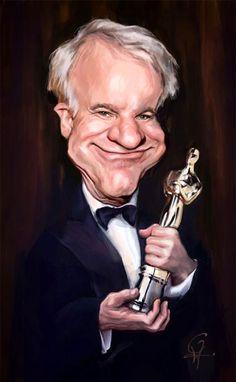 Caricatura de Steve Martin