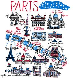 "Talented's Head Designer, Julia Gash, has depicted Paris as ""The City of Light"" in a Cityscape that oozes romance and joy under a blue, night blanket of stars. Julia's Paris is divided into two parts by River Seine and with that the design incorporates Julia's love of depicting water and bridges upon which sits the cutest ever Cathédrale Notre-Dame. Other best loved landmarks include Tour Eiffel, Arc de Triomphe, Opéra Garnier, Le Sacré-Cœur, Le Panthéon as well as her favourite art…"