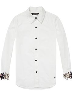 Embroidered Star Cuff Shirt