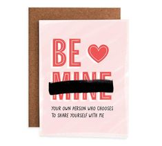 """""""Be Mine? We created Healthy Love Valentines to celebrate relationships that prioritize trust and individuality. A portion of profits will be donated to the Cleveland Rape Crisis Center. Mutual Respect, Love Valentines, How To Make Paper, Kraft Envelopes, Planner Stickers, Things To Think About, Greeting Cards, Thankful, Words"""