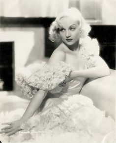 Carole Lombard--look at those eyebrows? You know she means business with those bad boys.