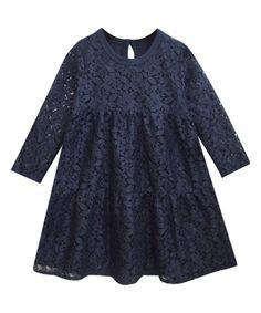 Look what I found on #zulily! Navy Lace Rachel Chloe Dress - Infant, Toddler & Girls #zulilyfinds