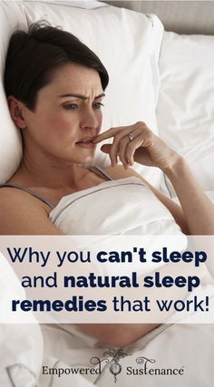Why you can't fall asleep or stay asleep and natural sleep remedies that address the causes of insomnia #health #essentialoils #naturalremedies