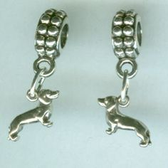 Sterling Silver DACHSHUND Bead Charm fits all Trollbead, European and all Name Brand Add a Bead Bracelets - Charm - Mini 3d. $12.00, via Etsy.