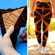 Most up-to-date Free sewing pants videos Ideas Diy Tie Dye Shirts, 5 Minute Crafts Videos, Tie Dye Crafts, Bleach Tie Dye, Bleached Jeans, Creative Arts And Crafts, Tie Dye Outfits, How To Tie Dye, Diy Clothes Videos
