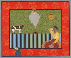 Pipe Dreams (Hot Elvis - Alexander Gorlizki and Riyaz Uddin - South Asian Collection Pipe Dream, Museum Of Fine Arts, Illuminated Manuscript, Asian Art, Printmaking, Oriental, My Arts, Miniatures, Kids Rugs