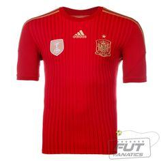 e83552062d343 Camisa Adidas Espanha Home 2014 - Fut Fanatics - Compre Camisas de Futebol  Originais Dos Melhores Times do Brasil e Europa - Futfanatics