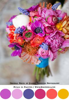Colorful Bouquets: 15 Most Colorful Wedding Bouquets So Far » KnotsVilla