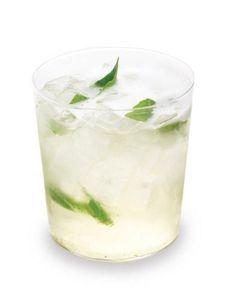 Basil French 75 (champagne, gin + fresh herbs)