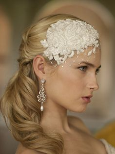 Hair Jewelry Acessories Claudette Retro Lace and Silk Bridal Hair Accessory - This w x h retro bridal cap is an exclusive design from hand-made couture collection. Our silk charmeuse Wedding Headband, Bridal Hat, Wedding Hats, Bridal Headpieces, Wedding Veils, Fascinators, Wedding Attire, Lace Wedding, Bridal Headbands