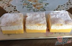 French creams sprinkled with icing sugar NejRecept. Vanilla Cake, Sprinkles, Icing, Cheesecake, Food And Drink, Sugar, Cookies, Cream, Drinks