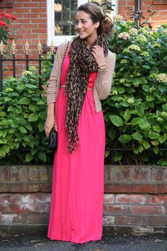 How to wear a maxi dress, love it.