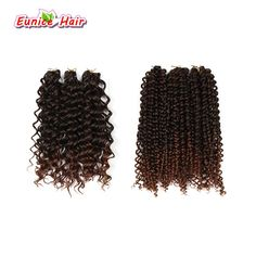 DEEP TWIST BULK HAIR Freetress Synthetic Braid Natural Deep twist water wave Brazilian hair styles gogo curly for African women