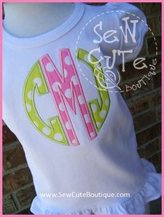 Initially Yours... Circle Monogram Applique Tee by ThatsSewCute, $20.00