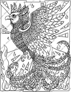 Wonderful Picture of Phoenix Coloring Page . Phoenix Coloring Page Phoenix Coloring Pages Cosmo Scope Bird Coloring Pages, Free Printable Coloring Pages, Adult Coloring Pages, Coloring Books, Pictures Of Phoenix, Phoenix Tattoo Design, Picture Engraving, Wonderful Picture, Bird Drawings