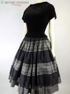 40s/50s New Look Black Velvet