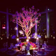 I absolutely love these centerpieces! The tree of life