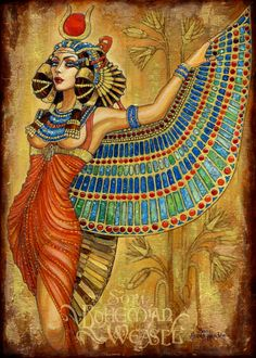 Isis #Isis #Egpytian...I can't say how much I love this! Isis digital art drawing egyptian goddess