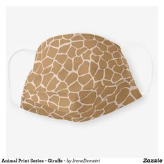 Animal Print Series - Giraffe - Cloth Face Mask Giraffe Print, My Animal, Color Palettes, Color Combinations, Print Patterns, Face, Animals, Inspiration, Clothes